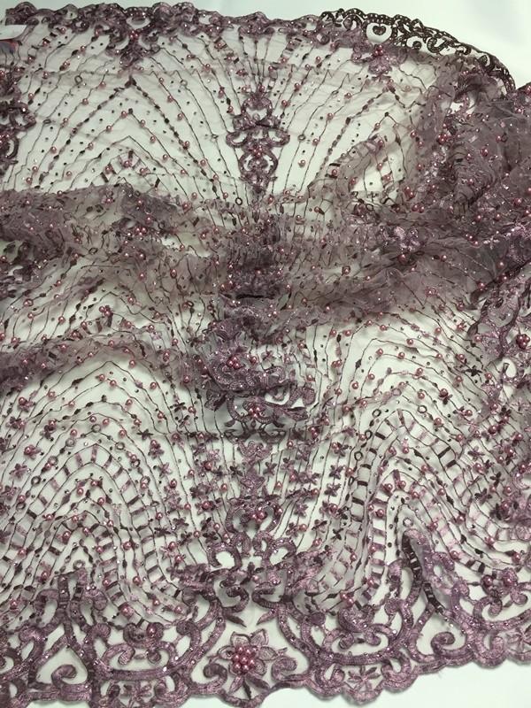 04f7d98288 mályvás lila gyöngyös csipke kövekkel - Dubai City Kft. Méteráru